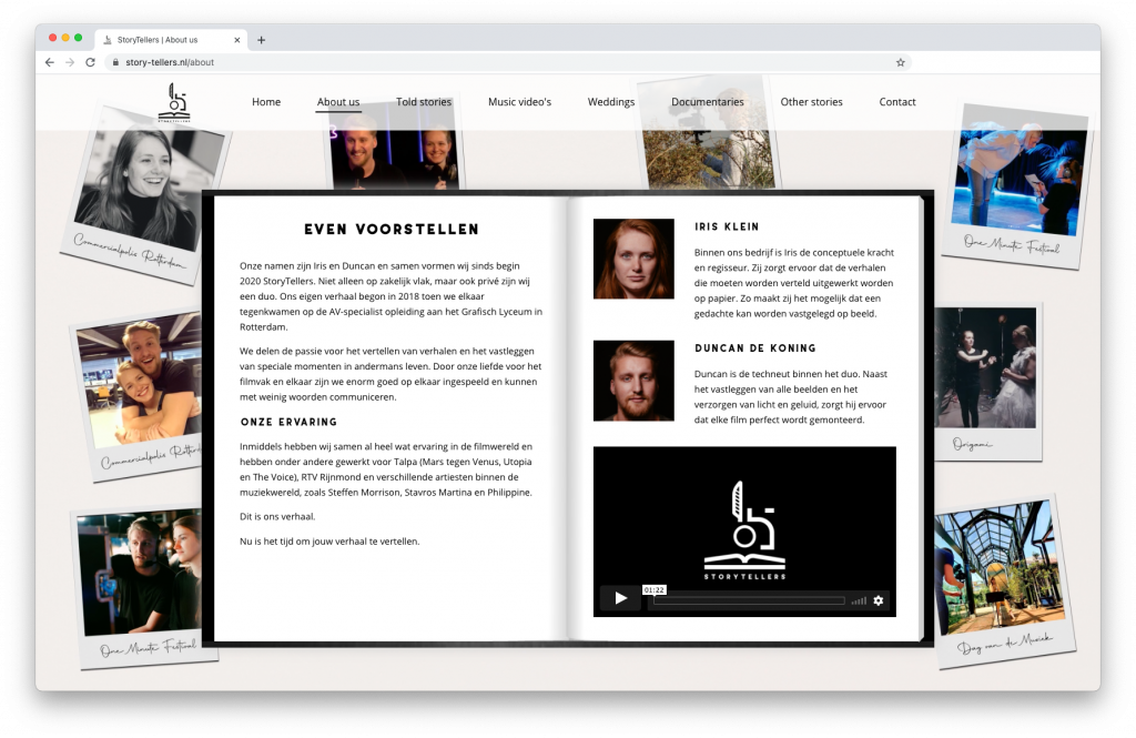 Storytellers about page